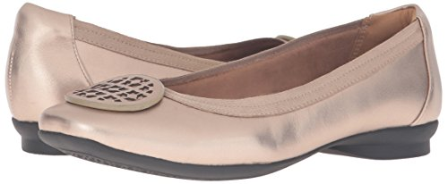 Clarks Women's Candra Blush Flat, Gold/Metallic, 10 M US by CLARKS (Image #6)