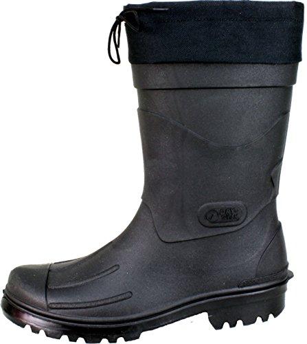 Nils - para hombre botas de agua, Couleur:noir;Taille:40