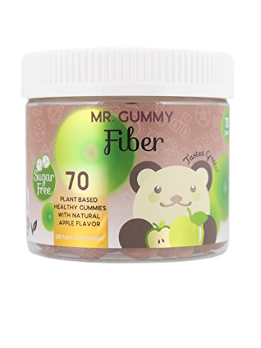 Mr Gummy Vitamins Sugar Free Fiber Supplement | Apple Flavored Gummies for Better Digestion, Nutrient Absorption and Healthy Colon | [100 Gummies, 50-Day Supply] | Kids Vitamins