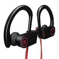 Otium Auriculares Bluetooth, los mejores auriculares inalámbricos IPX7 Auriculares deportivos impermeables con micrófono HD Estéreo A prueba de sudor Auriculares en el oído Gimnasio Entrenamiento 8 horas de batería Cancelación de ruido Auriculares