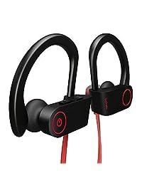Auriculares Bluetooth Otium inalámbricos IPX7 impermeables in-ear deportivos con micrófono para gimnasio, correr, ciclismo, entrenamiento Rojo