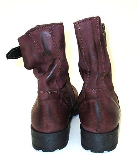 Silfer Shoes - Botas de Piel para mujer marrón burdeos