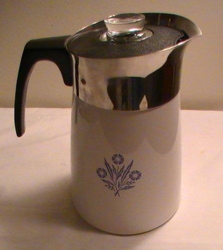 Corning Cornflower Blue 6-cup Coffee Pot