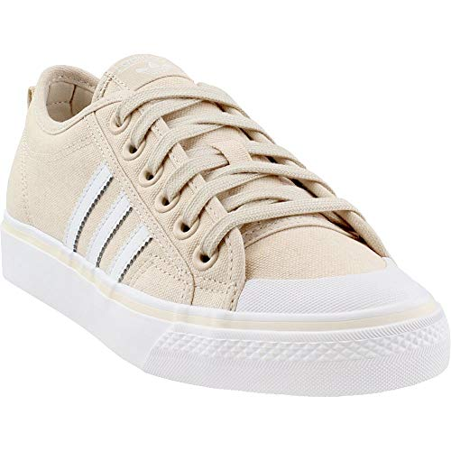 (adidas Womens Nizza Casual Shoes Beige 8 )