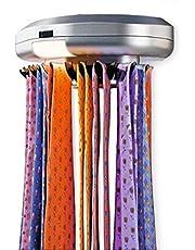 KIKAR Electric Motorised Tie Rack | Wall Mounted Tie/ Belt/ Scarf Organizer