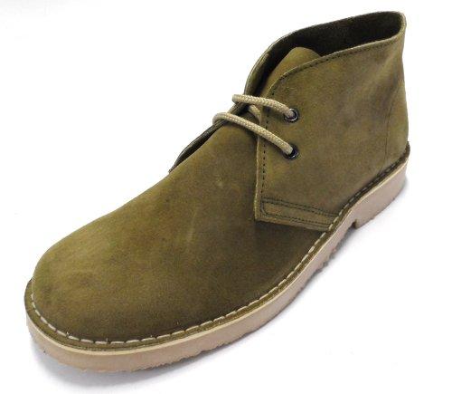 70s retro real suede desert boots in 5 colours (6, kaki)