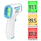 Non-Contact Infrared Forehead Thermometer Reads °F and °C with Fever Alert for Baby Adults and Surface Digital Medical Infrared Ear Instant Results for Medical Hospital Use