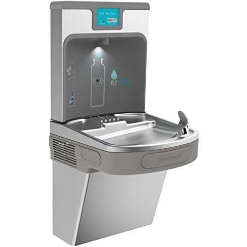 Elkay LZS8WSSP Enhanced EZH2O Bottle Filling Station & Single ADA Cooler, Filtered 8 GPH Stainless from Elkay