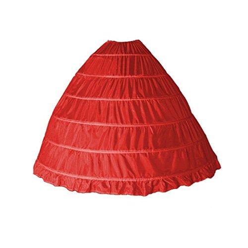 VENIMASEE Damen 6 Reifen FloorLänge Hochzeitssuite Krinoline Kleid ...
