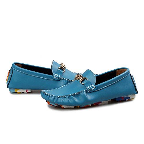 Xiafen Hombres Mujeres Unisex Comfort Fashion Casual Mocasines Mossican Zapatos Azul