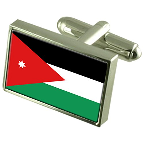 Jordan Sterling Silver Flag Cufflinks by Select Gifts