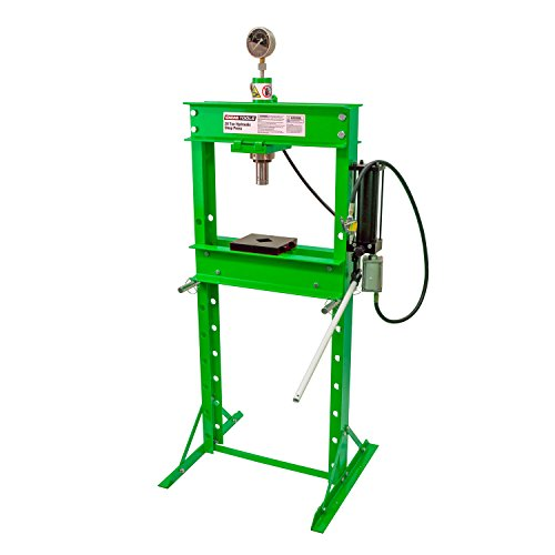 OEMTOOLS 24812 20 Ton Air Hydraulic Shop Press with Gauge by OEMTOOLS