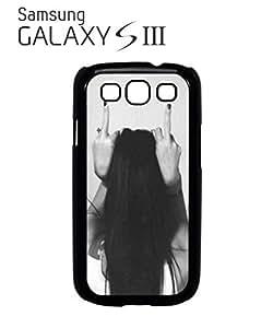 Finger Girl Rude Attitude Mobile Cell Phone Case Samsung Galaxy S3 White