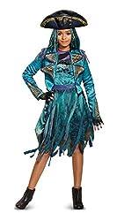 Disney Uma Deluxe Descendants 2 Costume, Teal, Medium (7-8)