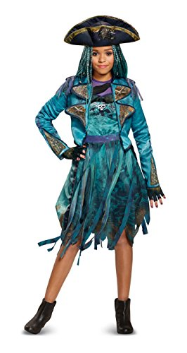 Hot Stuff Costumes For Women (Disney Uma Deluxe Descendants 2 Costume, Teal, Small (4-6X))