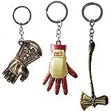 3pcs Superhero Key Chain Thor Stormbreaker Axe...