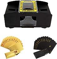 BENBOR Automatic Card Shuffler, 2-Deck Battery-Operated Electric Shuffler with Playing Cards, Card Shuffler fo