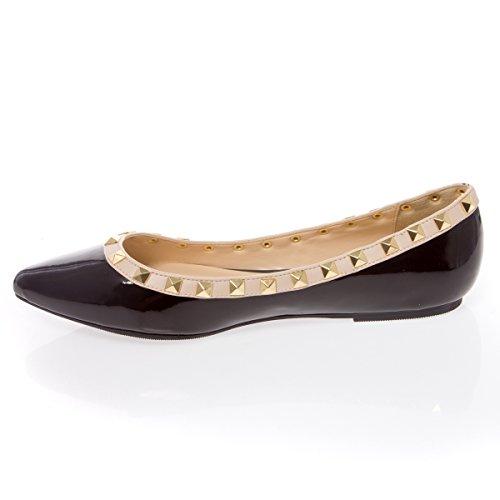 V-Luxury Womens 27-PIPPA36 Pointy Closed Toe Flat Ballerina Ballet Shoes