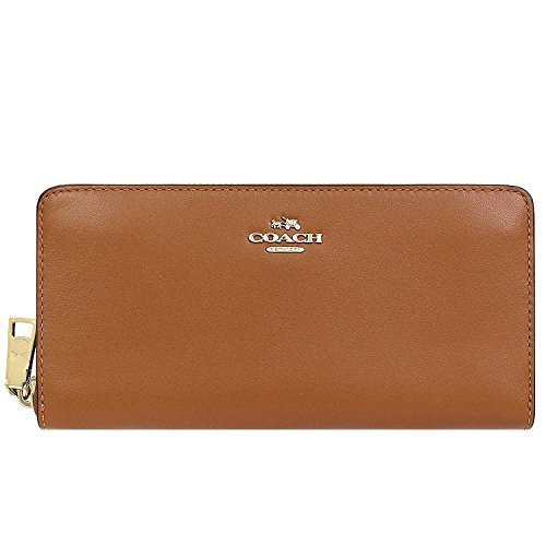 Coach Classic Wallet - Coach Smooth Leather Zip Accordion Wallet Classic Luggage ROYAL TAN F54049 IMSAD