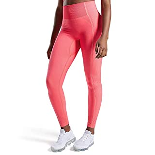 Aoxjox Women's High Waist Workout Sport Gym Ultra Seamless Leggings Yoga Leggings (Neon Pink, X-Small)