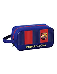 FC Barcelona Official Mens Striped Boot Bag (11.4 ins) (Blue/Red)
