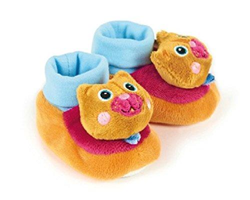 Little Helper Oops doux somptueuses mignon Chaussons/pantoufles avec prise en main sûre et hochet en Adorable Motif ours