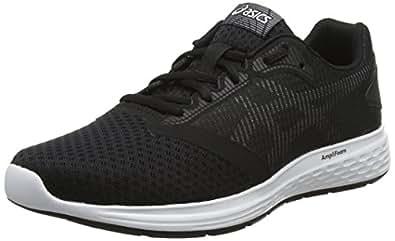 Asics Men's Patriot 10 Road Running Shoes, Black (Black/White),8.5 US,42 EU