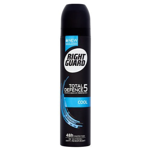 Right Guard Total Defence 5 Cool Anti-Perspirant Deodorant Aerosol, 250ml by Right Guard - 250 Ml Aerosol