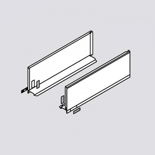Legrabox C 18'' Drawer Profile Left/Right Stainless Steel