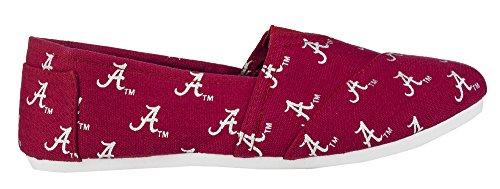 Voor Altijd Verzamelobjecten Damesschool Dames Canvas Instappers Zomerschoenen - Pick Team Alabama Crimson Tij