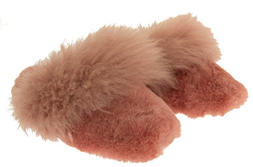 Somerset Footwear Mujer Genuina Piel de Oveja Zapatillas de Mulas Color de rosa