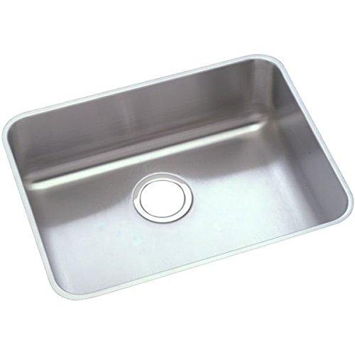 (Elkay PLAUH211510 Pursuit 18-1/4-Inch x 23-1/2-Inch Single Basin Undermount Stainless Steel Kitchen Sink)