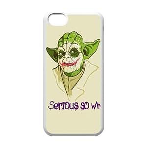 iPhone 5C Phone Case White Star Wars Yoda HUX320904