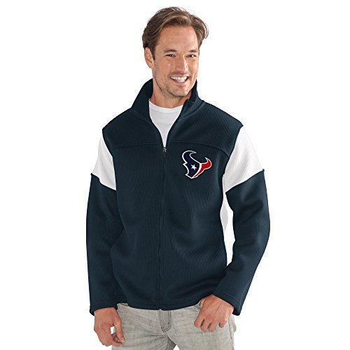 G-III Sports NFL Houston Texans Adult Men Halftime Full Zip Jacket, Large, Navy