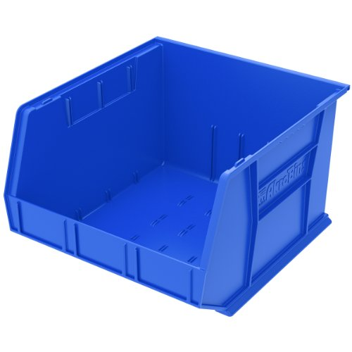 Akro-Mils 30270 Plastic Storage Stacking AkroBin, 18-Inch by 16-Inch by 11-Inch, Blue, Case of ()