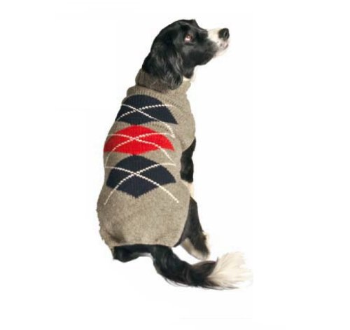 Chilly Dog Grey Classic Argyle Dog Sweater, X-Small by Chilly Dog