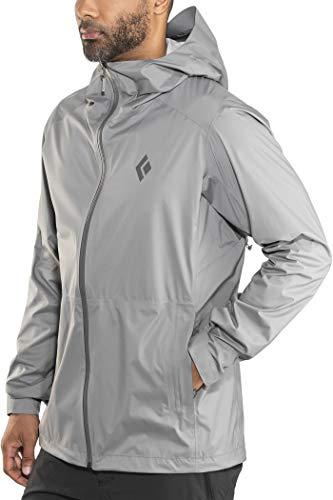 Black Diamond Men's Stormline Stretch Rain Shell Jacket Ash - Shell Stretch Jacket