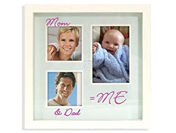 Amazoncom Malden Mom Dad Me Shadowbox Matted Picture Frame