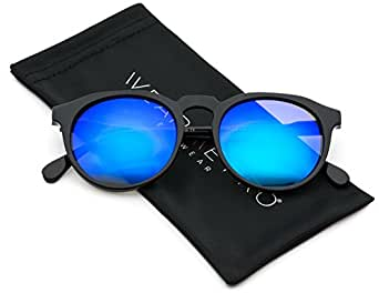 WearMe Pro - Retro Unisex Round Mirrored Fashion Sunglasses