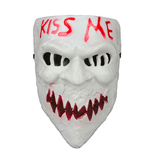 Gmasking 2018 PVC Halloween Election Horror New Year Kiss Me Cosplay Mask Costume Props (Red-Tooth) ()