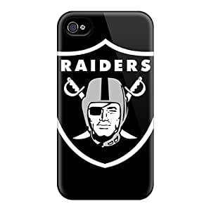 First-class Case Cover For Iphone 4/4s Dual Protection Cover Oakland Raiders