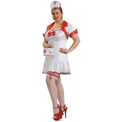 Hot Nurse Costume - Queen - Dress Size -