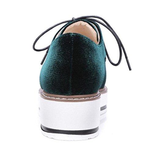 Damenschuhe Schuhe Freizeitschuhe Herbst Student Frau Aufzug Schuhe laufen  green