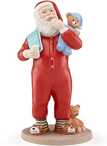 Lenox Bed time Stories Santa in Red Pajamas Teddy Bear 8