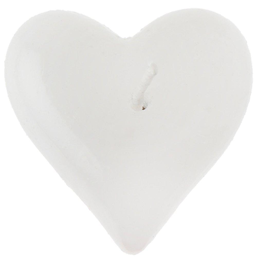 SANTEX 4595-1, Lot de 2 bougies FLOTTANTES COEUR, blanc