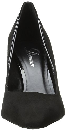 Delman Suede Kid Women's D Black Pump Patent Delux Leather Dress KP 88q0Hr