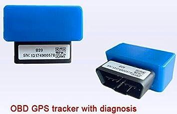 OBD2 escáner GPS rastreador en tiempo real vehículo seguimiento GSM GPRS Mini dispositivo espía herramienta de diagnóstico para coche localizador de ...