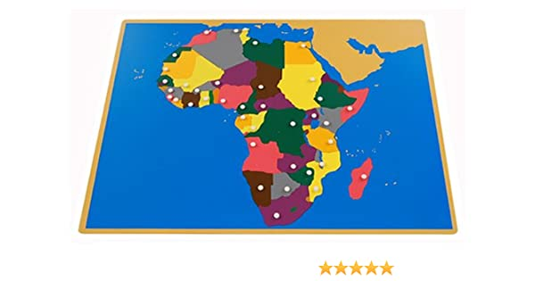 Amazon.com: Montessori Africa Puzzle Map (Without Control maps