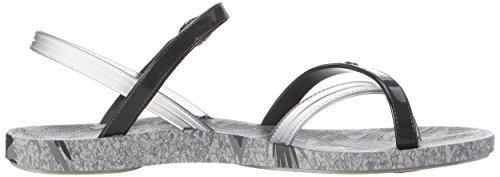 Ipanema Fashion Sand Iv Fem, Chanclas para Mujer Mehrfarbig (grey/black)