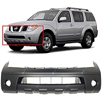Front Bumper Cover For 2008-2012 Nissan Pathfinder LE Model w// 3 Holes Primed